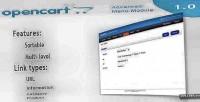 Module menu for opencart