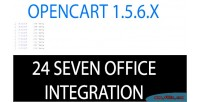Opencart 24sevenoffice integration