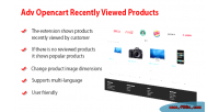 Opencart adv products viewed recently