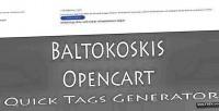 Opencart baltokoskis generator tags quick