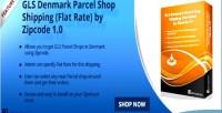 Opencart gls denmark parcel flat shipping shop