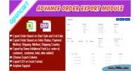 Order opencart export module