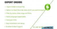 Orders export