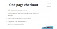 Page one module opencart checkout