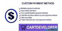 Payment custom opencart for methods
