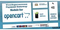 Payment techprocess gateway opencart for module