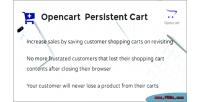 Persistent opencart cart