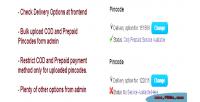 Postcode pincode based cod
