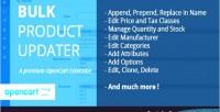 Product bulk updater