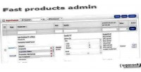 Product fast opencart for admin