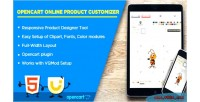 Product online extension opencart customizer