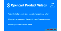 Product opencart page videos