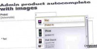Products admin images with autocomplete