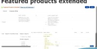 Products featured opencart for extended