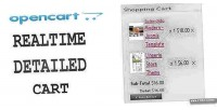 Realtime opencart cart shopping detailed