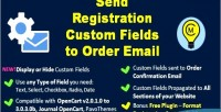 Registration send custom email fields order to
