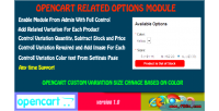 Related opencart options module