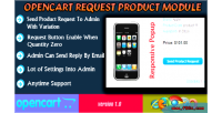 Request opencart product module