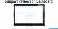 Reviews compact on dashboard