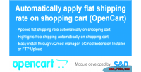 Shipping auto extension opencart for ocmod vqmod
