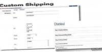 Shipping custom for opencart