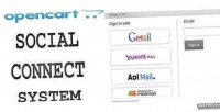 Social opencart connect system