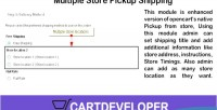 Store multiple pickups opencart for shipping