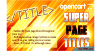 Super opencart page titles