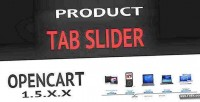 Tab product slider opencart