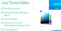 Theme live editor
