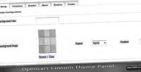Themes custom module opencart panel