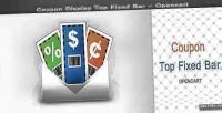 Top coupon opencart bar fixed