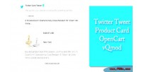 Tweet twitter product vqmod opencart card