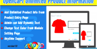 Unlimited opencart product information