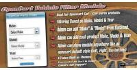 Vehicle opencart filter module