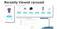 Viewed recently carousel opencart for module