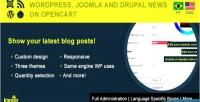 Wordpress joomla & drupal opencart on posts