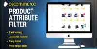 Attribute product oscommerce for filter