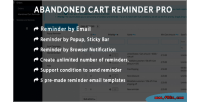 Abandoned prestashop cart reminder using pro email notification browser popup