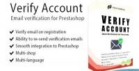 Account verify for prestashop