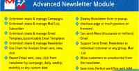 Advanced prestashop newsletter module