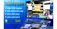 Advertising multi module prestashop popup