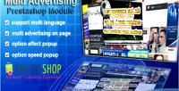 Advertising multi module prestashop popup