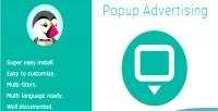 Advertising popup
