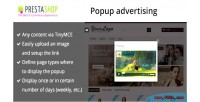 Advertising popup for prestashop