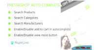 Ajax prestashop autocomplete search
