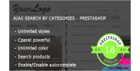 Ajax search by category module prestashop premium