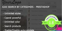 Ajax search by category module prestashop premium