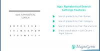 Alphabetical ajax search
