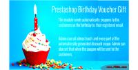 Birthday prestashop voucher gift